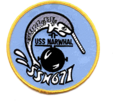 "4"" NAVY USS SSN-671 NARWHAL EMBROIDERED PATCH - $23.74"