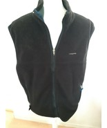 Patagonia Synchilla Jacket Vest Black Size Large Full Zip Made In USA - $54.40
