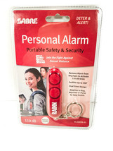 NEW Sabre Personal Alarm w/ keychain 110dB up to 300 ft red security key... - $5.94
