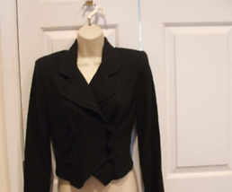 New in Pkg Frederick's Of Hollywood Black Fitted Jacket Made in USA  Small - $39.59