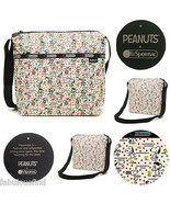 LeSportsac Peanuts Snoopy Happiness Dots Small Cleo Crossbody Bag NWT Fr... - $63.64