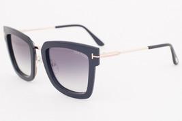 Tom Ford LARA Shiny Black / Gray Gradient Sunglasses TF573 01B LARA-02 - $224.42