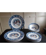 C4R1 by Crofton - Snowflake/Snowman Plates & Bowls - 12 Pieces - $54.45