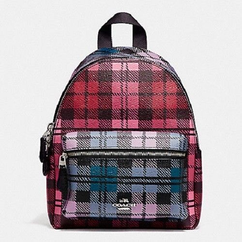 af25d576f26b Nwt Coach F22351 Mini Charlie Shadow Plaid and 50 similar items