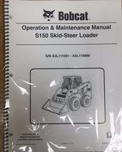 Bobcat S150 Skid Steer Operation & Maintenance Manual Operator/Owners 4 #6986966 - $26.00