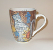 Autumn Cat Coffee Mug I Once Was Lost But Now Am Found New Amazing Grace - $15.83