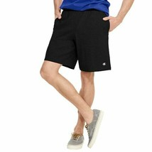Men's Champion Black Authentic Cotton Jersey Pocketed Casual Athletic Sh... - $19.35