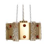 NO. 25801 PRISM PENDANT, brass pendant by Vitrika, 1970s. Danish Modern ... - $402.00