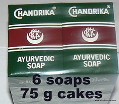 6 Chandrika Ayurvedic Soaps Original pack is back - $14.11