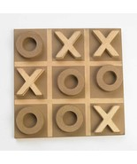 "14"" Light Brown & Tan Wood Tic Tac Toe Game Board Home Tabletop Decor - $28.66"