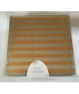 """Glass Mirror Jewelry Box Gold Line Stripes 4.5"""" X 4.5"""" X 2.5"""" - $4.95"""