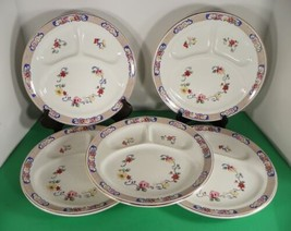 John Maddock & Sons Floral Grill Divided Dinner Plate (s) LOT OF 5 - $44.50