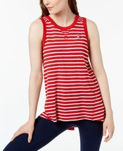 Tommy Hilfiger Womens Striped High-Low Tank Top Scarlet/White Size Medium - $29.25