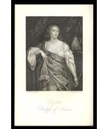 Elizabeth Duchess of Somerset 1851 Antique Art Print Charles II Court Be... - $24.99