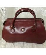 "Etienne Aigner Women's Leather Satchell Bag 9"" x 11.5"" x 3"" Burgundy - $37.49"