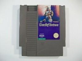 VINTAGE NINTENDO NES DEADLY TOWERS GAME CARTRIDGE TESTED WORKS BRODERBUND - $10.73