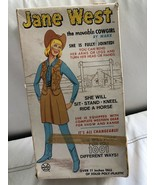 Vintage 1960's Marx Co. Jane West Movable Cowgirl Doll - $69.29