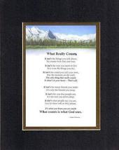 Touching and Heartfelt Poem for Inspirations - What Really Counts Poem o... - $15.79
