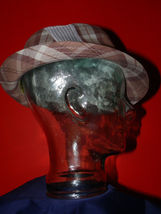 Dorfman Pacific Authentic Handmade Headwear Size M Warm Plaid Fedora Trilby image 3