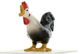 Hagen Renaker Miniature Chicken Leghorn Rooster Black Ceramic Figurine image 4