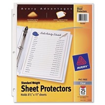 Avery Top Loading Sheet Protectors - AVE75530 25 Pack - $10.88
