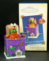Hallmark Ornament POP! GOES THE REINDEER Jack in the Box Memories 2005 NIB - $21.95