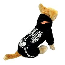 NACOCO Dog Costume Dinosaur Costumes Skeleton Hoodies for Dogs Clothes H... - $11.87
