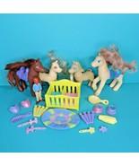 Dora The Explorer 4 Horse Pony Figures Accessories Toy Lot Mattel Viacom 2006 - $19.95