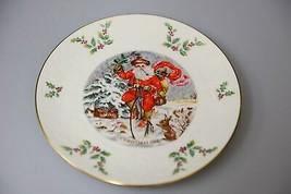 Vintage Royal Doulton annual Christmas holiday collectors plate 1982 San... - $28.19