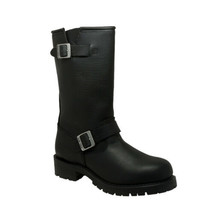 Men Black Engineer Soft Boot Biker Motorcycle Leather Boots by Daniel Sm... - $137.97