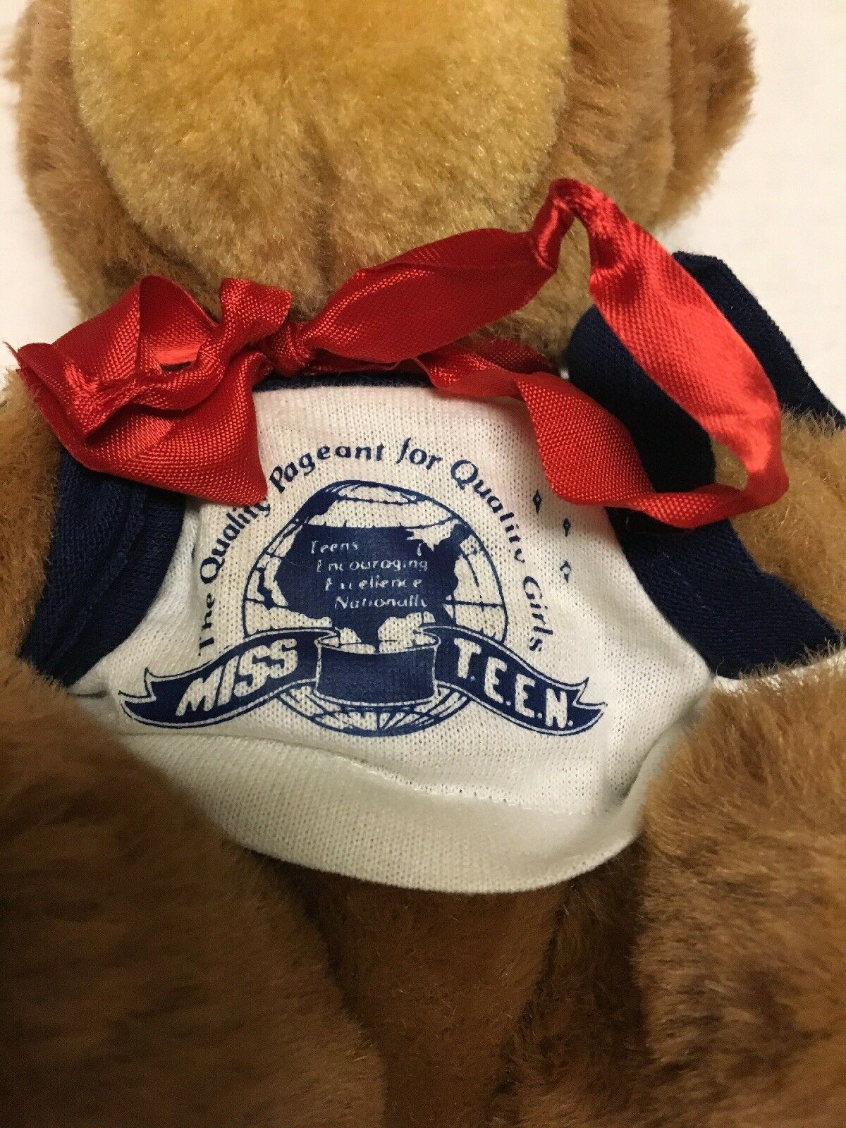 Vtg Miss Teen Beauty Pageant Plush Teddy Bear Long Prairie Minnesota MN Trudy