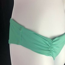 L Space Monique Side Back Ruched Bikini Bottoms Green Blue Hipster Womens L image 2