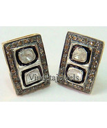 Engagement Silver Vintage Inspired 1.40Ct Rose Cut Diamond Earrings uP646 - $202.63
