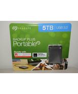 Seagate Backup Plus Portable 5TB Hard Drive STHP5000600 Rescue Data Reco... - $142.49