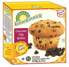 Kinnikinnick Foods Gluten Free Chocolate Chip Muffin, 10 oz -- 8 Per Case - $55.65