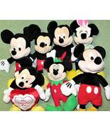 Disney MICKEY MOUSE Plush Stuffed Doll Lot Easter Valentine Christmas El... - $23.36
