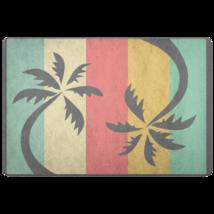 Beach Doormat - Coastal Colors Palm Tree For Beach House - $25.99