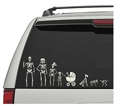 Crazy Bonez Skeleton Family Window Decals - $7.72