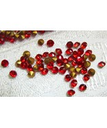 Red Glass Rhinestones Foil Back SS 4 Czechoslovakia Vintage  1 Gross Fir... - $6.00