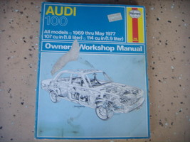 Audi 100  Haynes Repair Manual, Service Guide 1969-1977. Book - $8.86