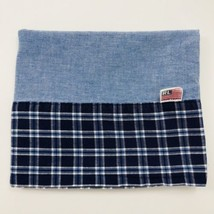 Ralph Lauren Pillowcase Denim Blue Chambray Standard Plaid Armistead - $12.59