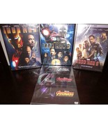 6 Marvel DVD Collection - Avengers, Ultron, Infinity War + Iron Man Tril... - $29.97