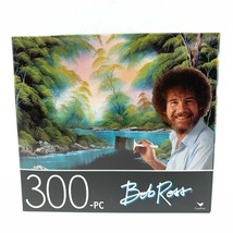 Bob Ross Deep Forest Lake Painting 300 Piece Puzzle 14 x 11 Happy Little... - $9.99