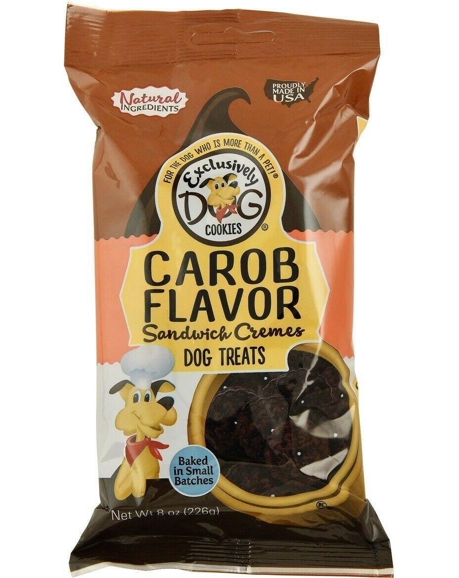 Sandwich Crema Cane Biscotti per Cani Aromatizzato Snack Premio Carruba 8oz
