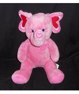 BUILD A BEAR TONS OF LOVE PINK RED HEART ELEPHANT STUFFED ANIMAL PLUSH T... - $24.87