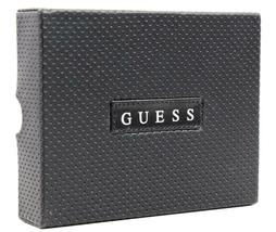 Guess Men's Premium Leather Double Billfold Credit Card Wallet Black 31GU13X030 image 6