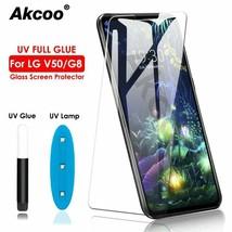 G8 Thinq UV Glass Screen Protector LG V50 V40 V30 Plus Film Full Glue Touch - $12.79+