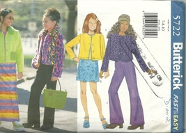 Butterick Sewing Pattern 5722 Girls Jacket Skirt Top Pants Size 7 8 10 U... - $9.99