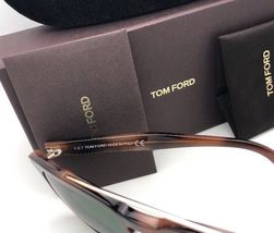 New TOM FORD Sunglasses HOLT TF 516 53N 54-19 145 Tortoise & Gold w/Green Lenses image 8