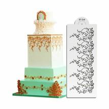 Plastic Lace Cake Flower Stencil Lace Side Large Vintage Baking Fondant ... - $15.00